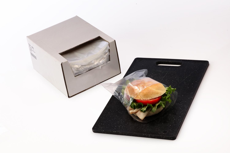 Clear Sandwich Bags In Dispenser Box 7 In X 7 In X 0 75