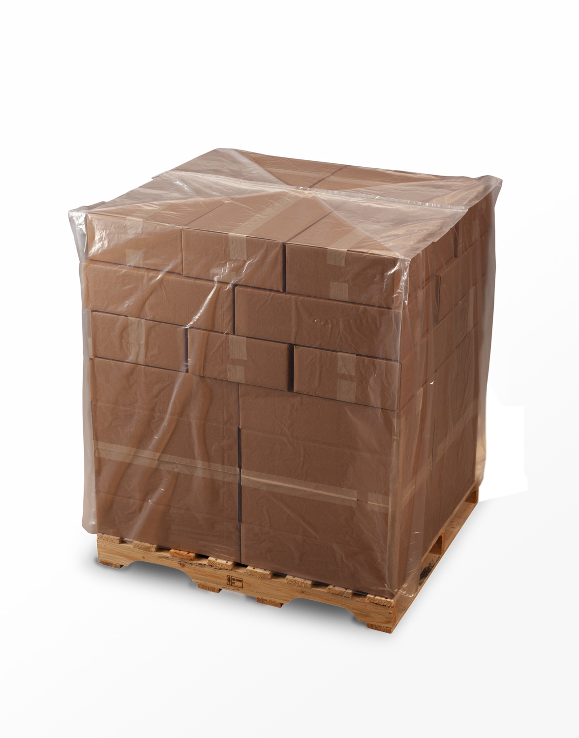 Clear Pallet Covers on Roll 48 x 46 x 96 x 4 Mil (46 in gusset) Roll:25