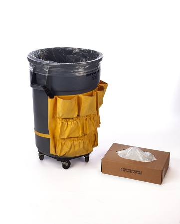 31-33 Gallon Clear Trash Bags 33x40 16 Micron 250 Bags
