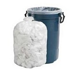 40-45 Gallon White Trash Bags 40x46 0.8 Mil 100 Bags