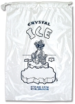 8 lb Ice Bags with Drawstring 11  x 18 x 1.4 mil Case:500