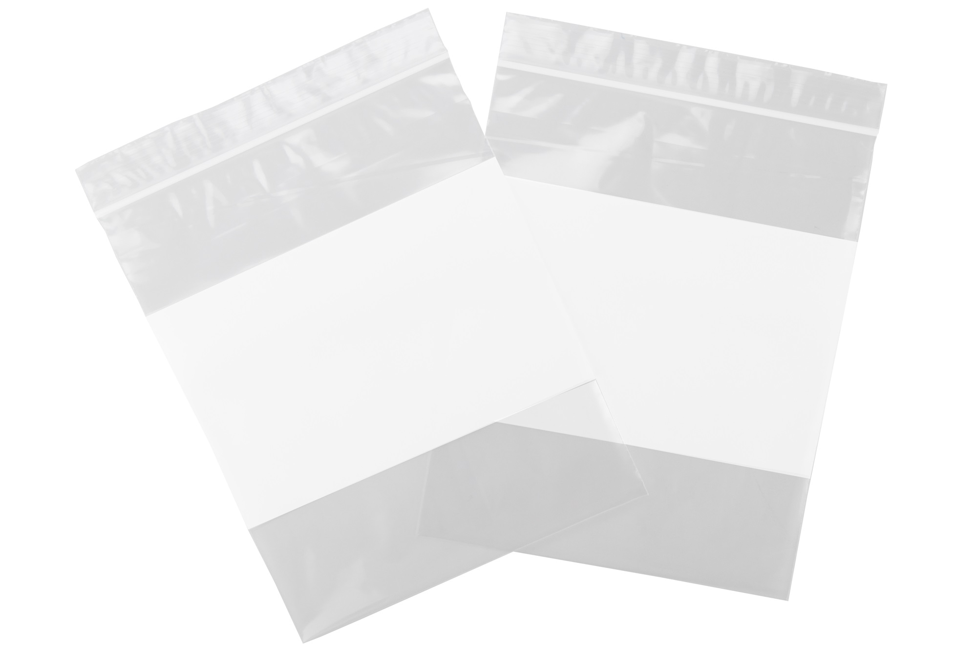 Resealable Poly Ziplock Bags 2Mil White Block FDA /& USDA Approved