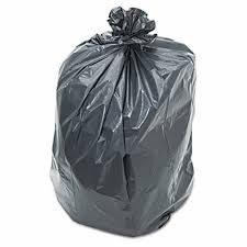 55-60 Gallon Gray Trash Bags 38x58 1.3 Mil 100 Bags
