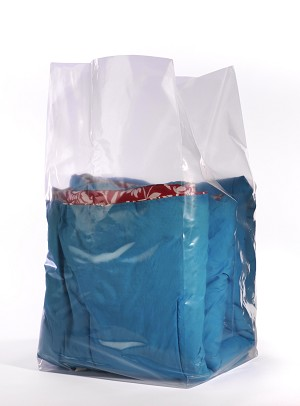 Clear Gusseted Poly Bags 30 x 26 x 60 x 1.5 Mil (26 in gusset) Case:100
