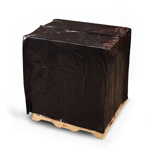 Black Pallet Top Covers with UVI/UVA 51 x 49 x 73 x 2 Mil Roll:55