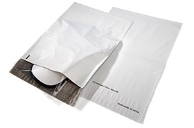 12 x 15.5 Poly Mailers Envelopes Shipping Bags White Returnable 2.5 mil case:500