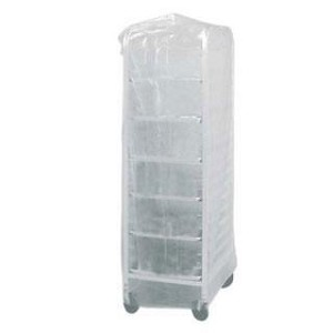 52x80 inches Disposable 13 Micron  51 Mil Bun Pan Rack Covers - 50 Bags  (25/Roll 2 Rolls)