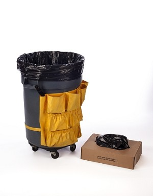 31-33 Gallon Black Trash Bags 33x39 1 Mil 150 Bags